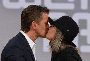 'Wetten dass..?' am 4.10.2014 - Markus Lanz und Diane Keaton - Foto: (c) ZDF, Sascha Baumann