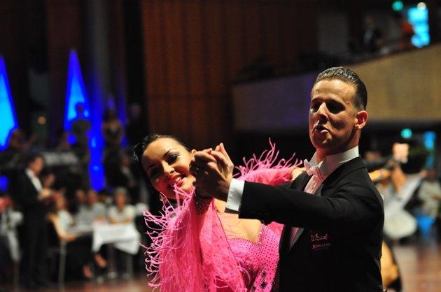 Diego Arias Prado - Ekaterina Ermolina aus Russland - 7. Platz WM 2014 Standard WDC AL - Foto: (c) Salsango - Karsten Heimberger