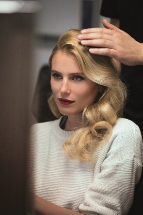 Fashion Week Berlin Januar 2015 - Foto von Dree Hemingway beim Shooting zum Key Visual Mercedes Benz Fashion Week 2015