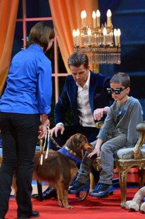 Kinder-Wette bei Wetten dass am 13.12.2014 - Foto: (c) ZDF und Sascha Baumann
