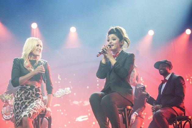 Maria Voskania mit Helene Fischer in der HFS 2014 - Foto: (c) ZDF und Sandra Ludewig