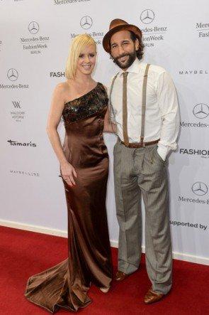 Isabel Edvardsson und Massimo Sinato auf der Fashion Week Berlin Januar 2015