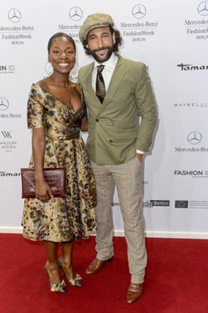 Nikeata Thompson und Massimo Sinato auf der MB Fashion Week Berlin Januar 2015