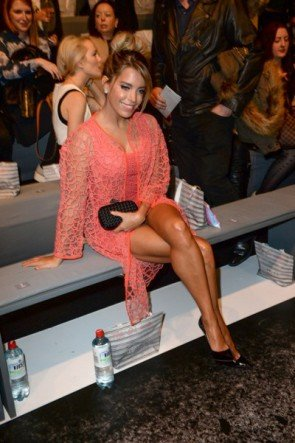 Sylvie Meis auf der MB Fashion Week Berlin Januar 2015