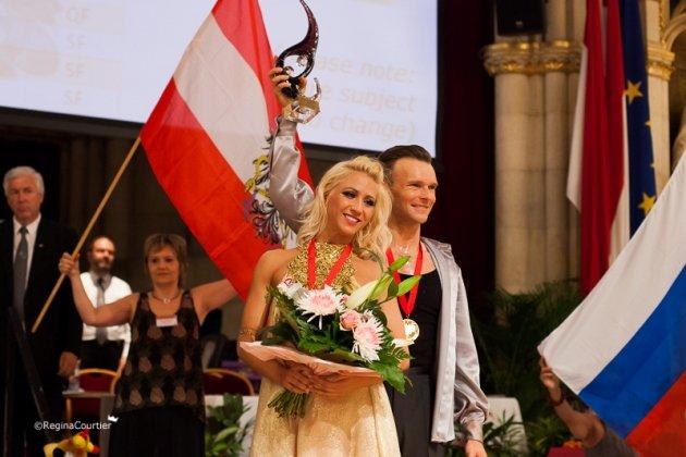 Vadim Garbuzov - Katrhin Menzinger Weltmeister 2015 Kür Latein WDSF PD - Foto: (c) Regina Courtier