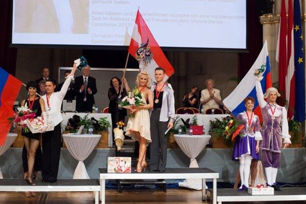 WM Kür Latein 2015 (Showdance) Vadim Garbuzov - Kathrin Menzinger Weltmeister - Foto: (c) Regina Courtier