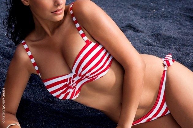 Bademode 2015 Bikini Model Capri, Farbe Red Sailor - PrimaDonna Swim