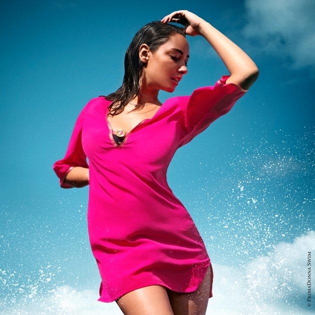 Strandkleid Bademode 2015 PrimaDonna Swim - Model Riviera Farbe Cherry Berry