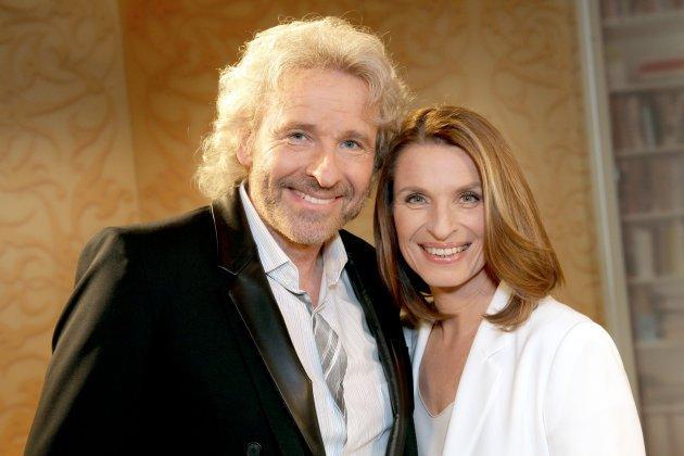 Barbara Stöckl mit Thomas Gottschalk - Foto: (c) ORF - Günther Pichlkostner
