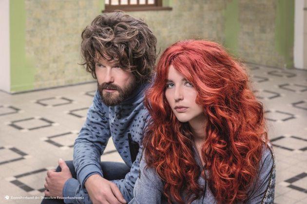Pinke Haare in zwei ombre Varianten