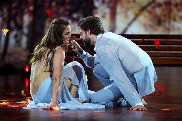 Felix von Jascheroff – Lisa Steiner beim Modern Dance Stepping Out Show 2 am 18.9.2015 - Foto: (c) RTL – Stefan Gregorowius