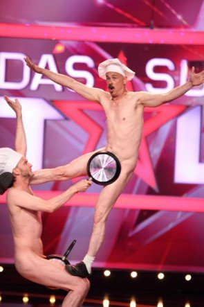 Naked Lunch - Colm O`Grady und Kevin Brooking beim Supertalent 2015 - Foto: (c) RTL – Frank Hempel