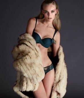 Andres Sarda Bügel-BH mit Tanga -Dessous-Model Lousie, Farbe Jewel Green