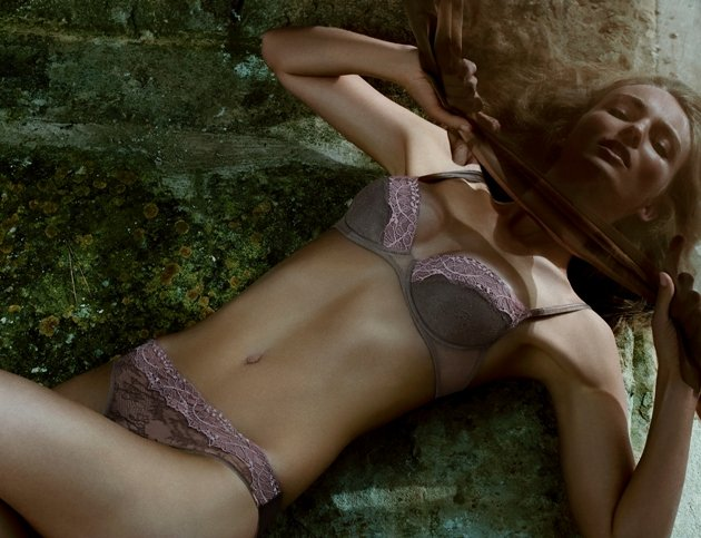 Andres Sarda Dessous Modell Louise Mode Herbst-Winter 2015-2016, Farbe Taupe