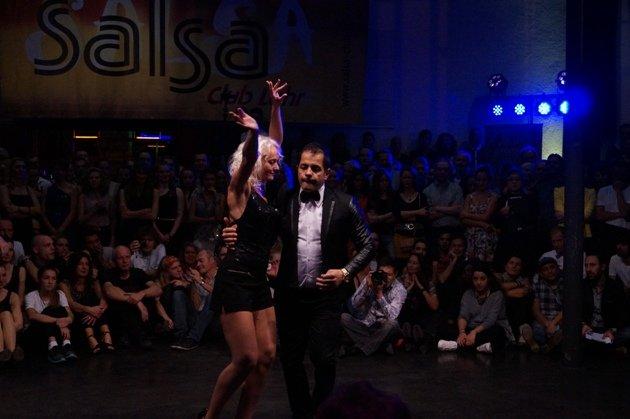 Orhan Krasniqi - Veronique Kalk zur Süd-Deutschen Salsa-Meisterschaft 2015 - 3 - Foto: (c) Salsango - Karsten Heimberger
