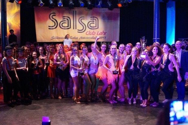 Siegerehrung Ladies - Süd-Deutsche Salsa-Meisterschaft 2015 - Foto: (c) Salsango - Karsten Heimberger