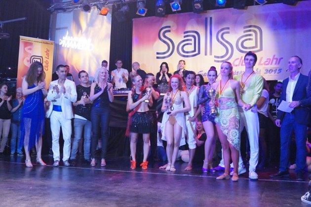 Siegerehrung bei der Süd-Deutschen Salsa-Meisterschaft 2015 - Foto: (c) Salsango - Karsten Heimberger
