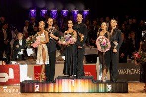 World Masters Latin Innsbruck 2015 - Siegerehrung - Foto: (c) Regina Courtier