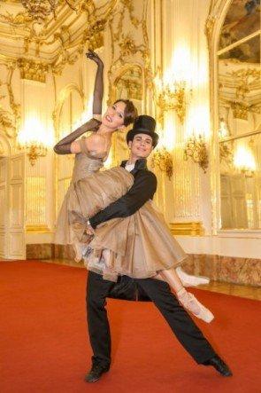 Nina Polakova - Davide Dato vom Wiener Staatsballett Neujahrskonzert 2016 - Foto: (c) ORF - Günther Pichlkostner