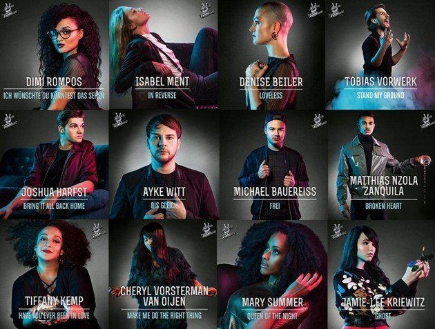 Singles The Voice of Germany - Kandidaten 2015