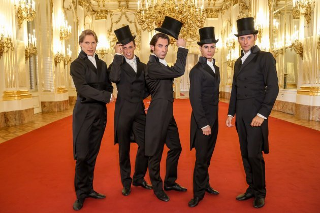 Tänzer vom Wiener Staatballett Kirill Kourlaev, Alexis Forabosco, Mihail Sosnovschi, Davide Dato, Kamil Pavelka - Foto: (c) ORF - Günther Pichlkostner