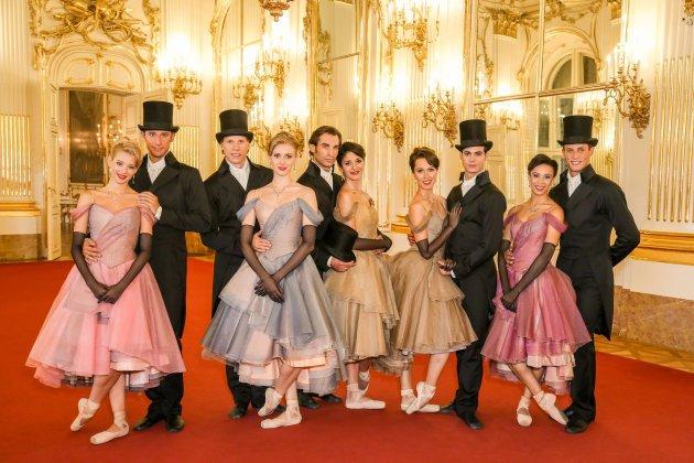 Tänzer vom Wiener Staatsballett beim Neujahrskonzert 2016 Wien