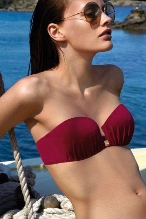 Bikini-Oberteil trägerlos 2016 Jil Barollo Red von Andres Sarda