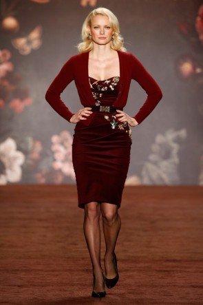 Franziska Knuppe zur Fashion Week Berlin Januar 2016 Kollektion Lena Hoschek