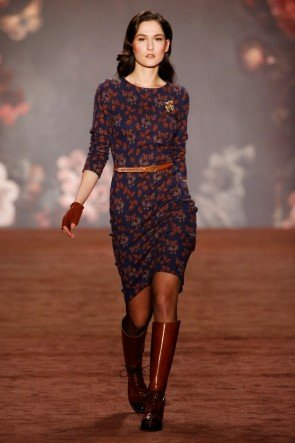 Lena Hoschek Kleid Herbst-Winter-Mode 2016-2017 Berlin Fashion Week Januar 2016 - 08