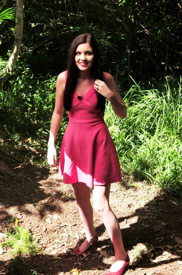 Nathalie Volk auf dem Weg ins Dschungel-Camp 2016