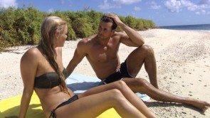 Bachelor 10.2.2016 - Daniela und Leonard am Strand