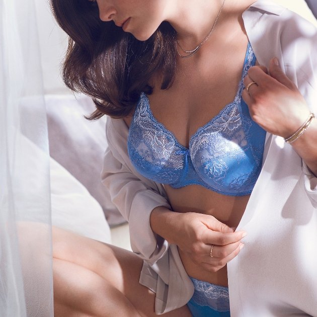 Dessous Frühjahr-Sommer 2016 - PrimaDonna Modell Delight Mode-Farbe Riviera Blue