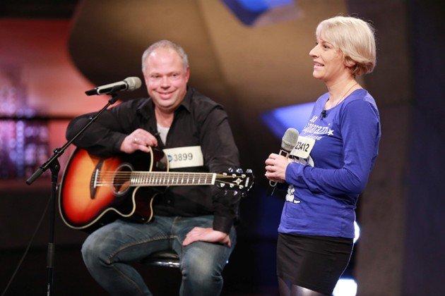 Ivona Duszynska und Mathias Gruber bei DSDS am 6.2.2016