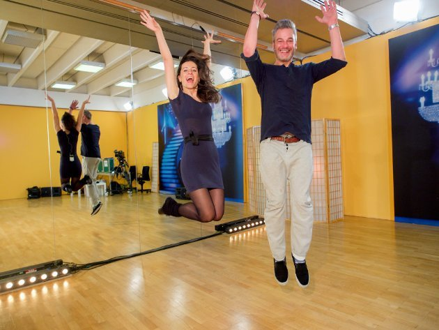 Lenka Pohoralek - Thomas May - Dancing Stars 2016 erste Proben - 5