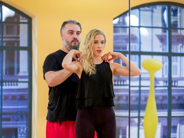 Maria Santner - Georgij Makazaria - Dancing Stars 2016 erste Proben - 1