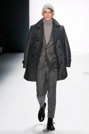 Modefarbe Grau - Mantel, Anzug und Rolli von Baldessarini Herrenmode Herbst-Winter 2016-2017