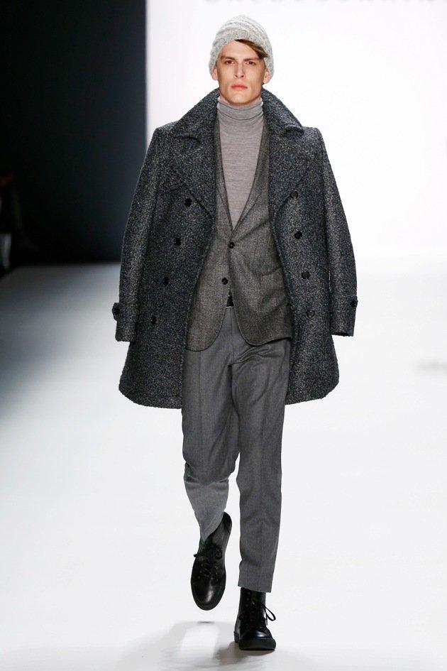modefarbe grau mantel anzug und rolli von baldessarini herrenmode herbst winter 2016 2017. Black Bedroom Furniture Sets. Home Design Ideas
