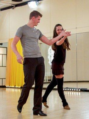 Roswitha Wieland - Thomas Morgenstern - Dancing Stars 2016 erste Proben - 1