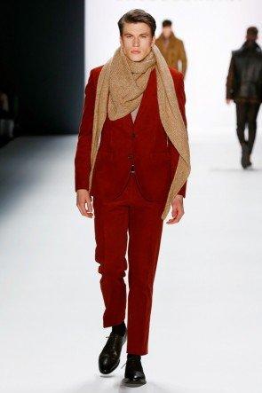 Roter Anzug Baldassarini Mode Herbst-Winter 2016-2017 Männer