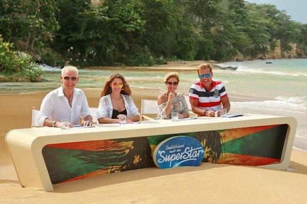 DSDS 2016 Ostern kein DSDS am 26.3.2016 - Strand-Fotos der DSDS-Jury - H.P. Baxxter, Vanessa Mai, Michelle und Dieter Bohlen