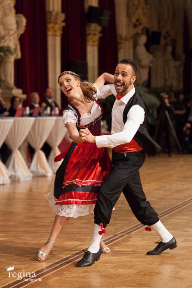 Danilo Campisi - Julia Burghardt aus Österreich - 5. Platz EM Kür Standard 2016 WDSF PD in Wien