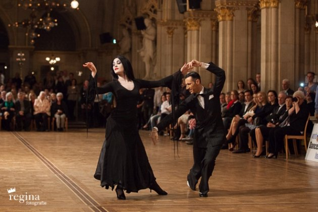 Marco Spadafora - Edvige Maria Bilotti aus Italien zur EM Showdance Standard 2016 in Wien