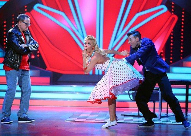 Ulli Potofski, Kathrin Menzinger und Vadim Garbuzov bei Let's dance 2016 am 6.5.2016