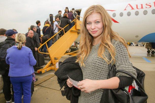 Zoe bei der Abreise aus Österreich