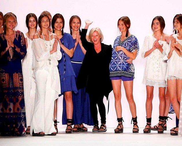 Designerin Elisabeth Schwaiger von Laurel zur Mercedes-Benz Fashion Week Berlin am 29.6.2016
