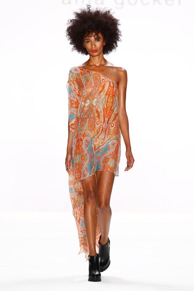 Ethno-Look Sommerkleid von Anja Gockel Mode Frühjahr-Sommer 2017