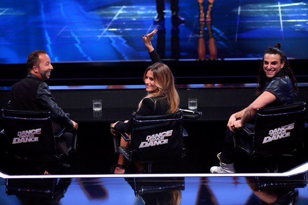 DJ Bobo, Sophia Thomalla und Cale Kalay in der Dance Dance Dance - Jury
