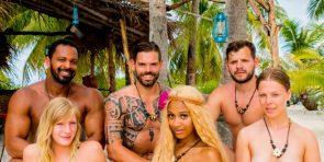Adam sucht Eva 2.10.2016 - Kandidaten zu Beginn unten Marlena, Sarah Joelle und Leo,oben Jesse, Daniel und Kushtrim