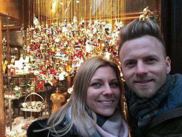 Willi Gabalier und seine Frau Christiana Weihnachten 2016