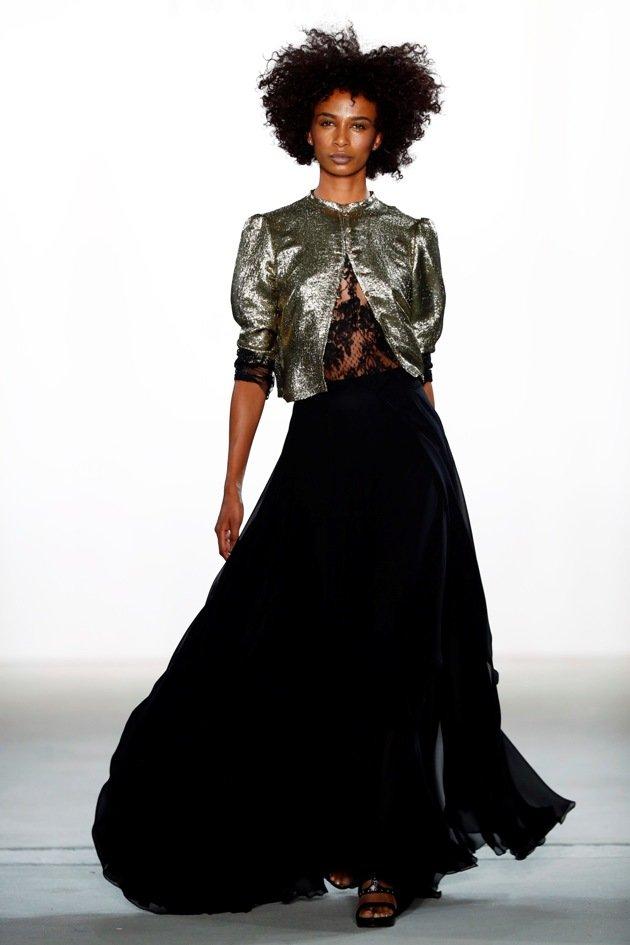 Langes Kleid bei Ewa Herzog Mode Herbst 2017 - Winter 2018 - Fashion week Berlin 1-2017